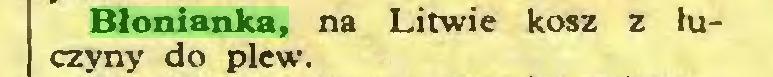 (...) Błonianka, na Litwie kosz z łuczyny do plew...