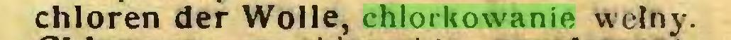 (...) chloren der Wolle, chlorkowanie wełny...