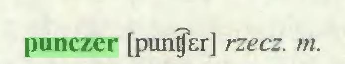 (...) punczer [puntjer] rzecz. m...