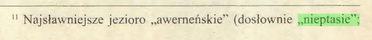 """(...) 1111 Najsławniejsze jezioro """"awemeńskie"""" (dosłownie """"nieptasie"""";..."""