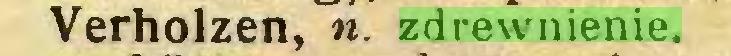 (...) Verholzen, n. zdrewnienie...