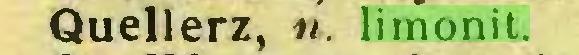 (...) Quellerz, «. limonit...
