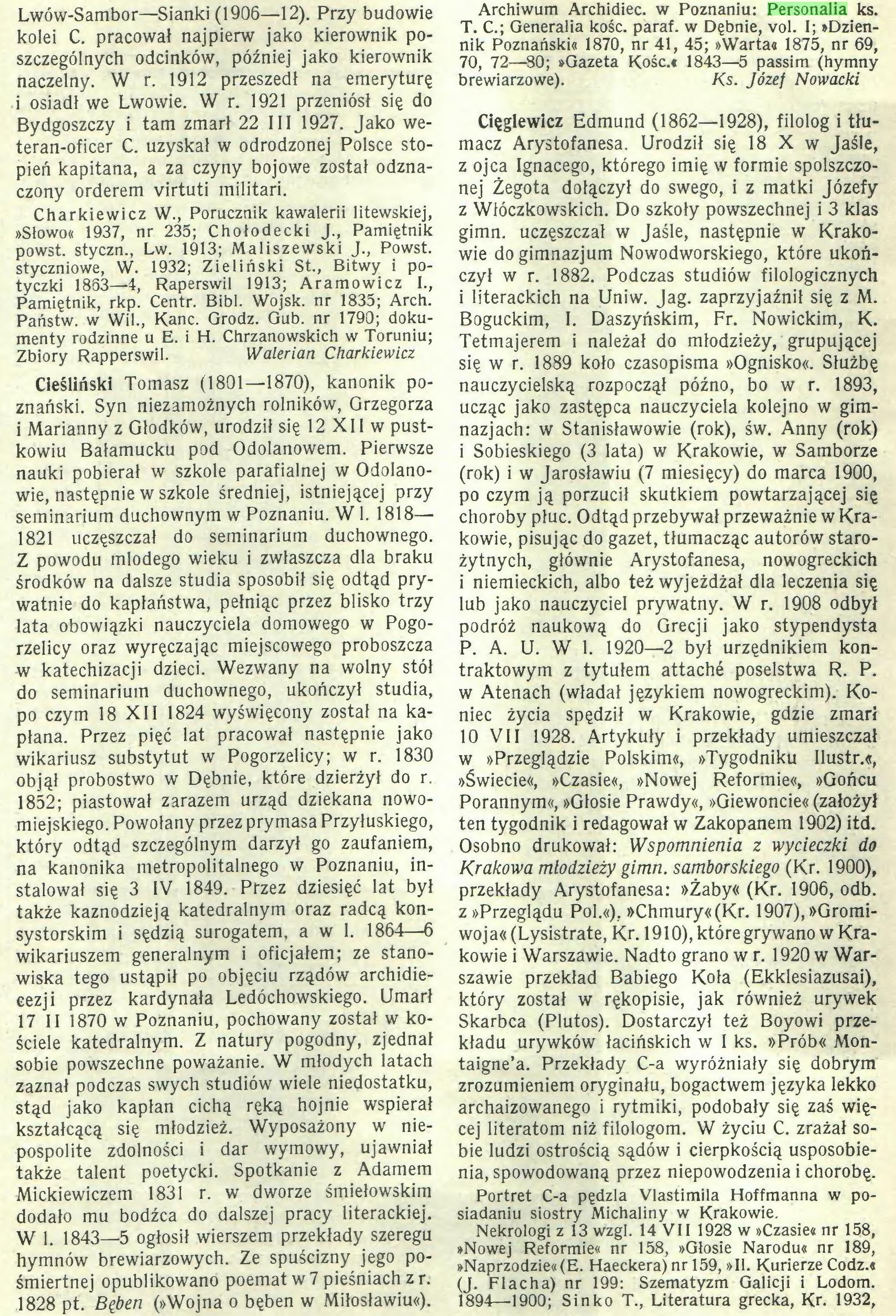(...) 1828 pt. Bęben (»Wojna o bęben w Miłosławiu«). Archiwum Archidiec. w Poznaniu: Personalia ks...