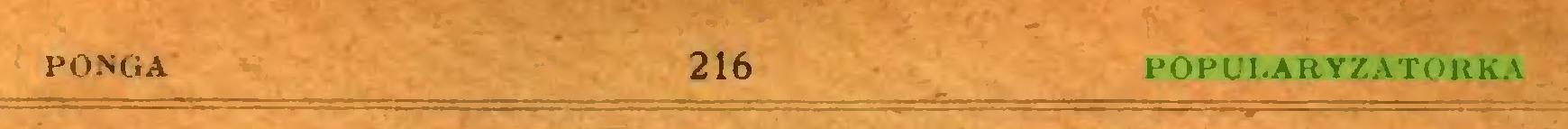 (...) PONGA 216 POPULARYZATORKA...