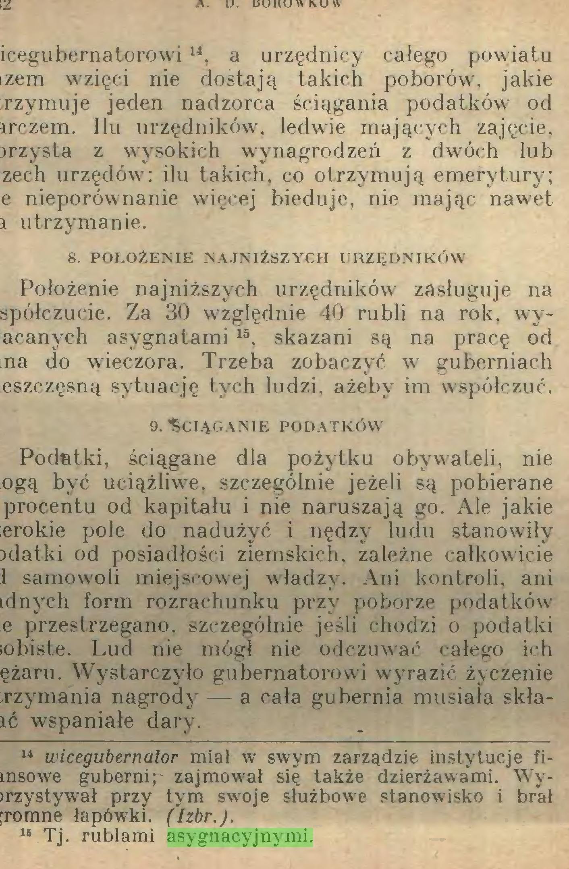 (...) 15 Tj. rublami asygnacyjnymi. CIĘŻARY CHŁOPÓW 183...
