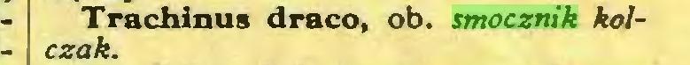 (...) Trachinus draco, ob. smocznik kolczak...
