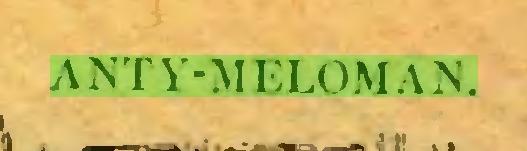 (...) ANTY-MELOMAN...