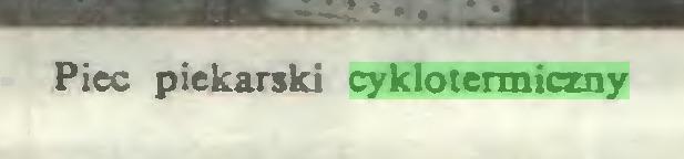 (...) Piec piekarski cyklotermiczny...