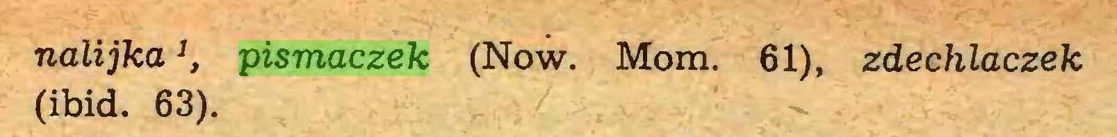 (...) nalijkaJ, pismaczek (Now. Mom. 61), zdechlaczek (ibid. 63)...