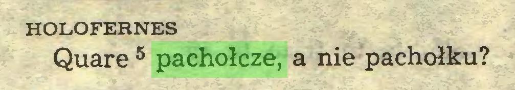 (...) HOLOFERNES Quare 5 pachołcze, a nie pachołku?...