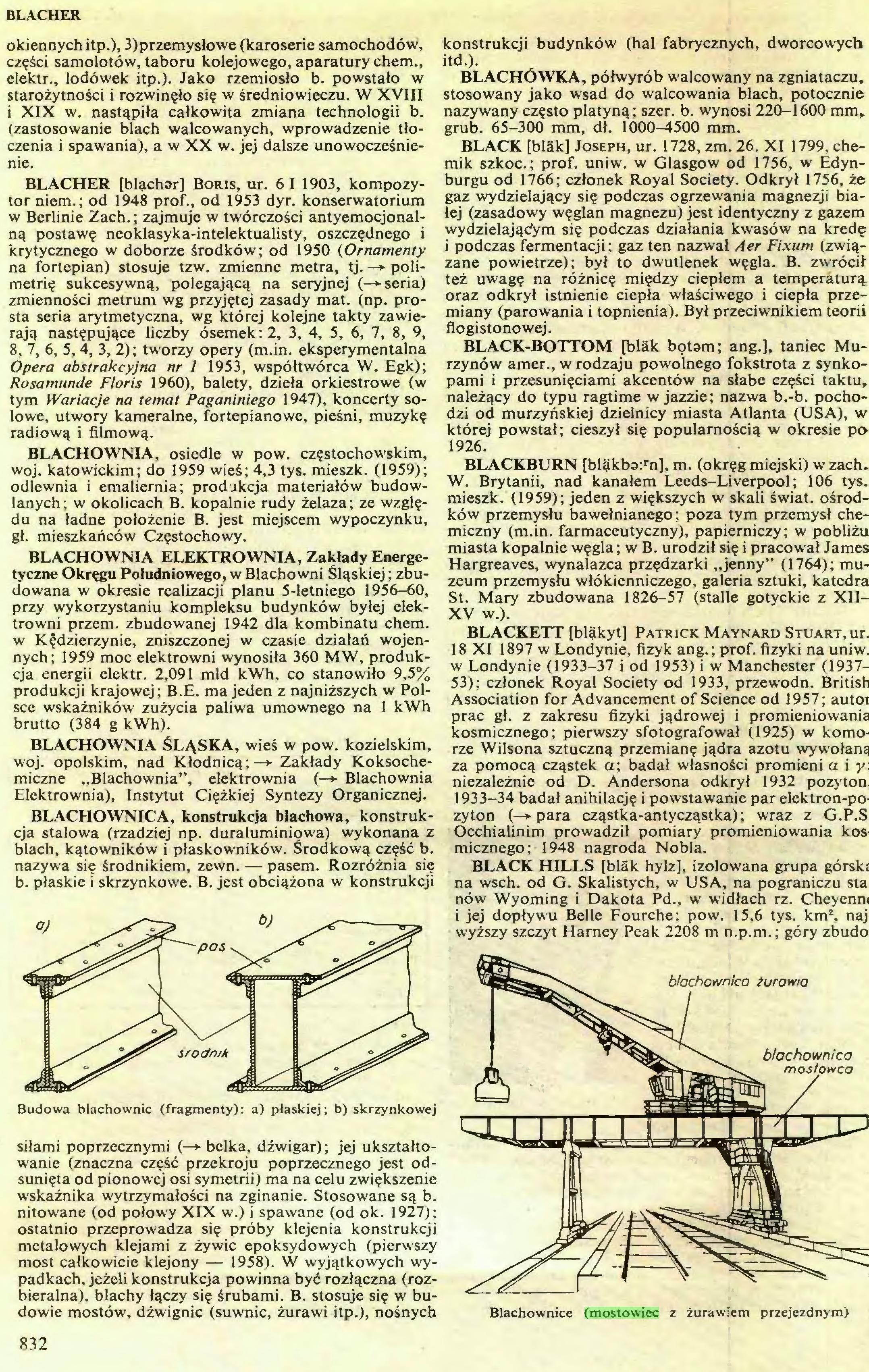 (...) Blachownice (mostowiec z żurawiem przejezdnym) 832 BLANC...