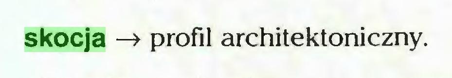 (...) skocja -» profil architektoniczny...