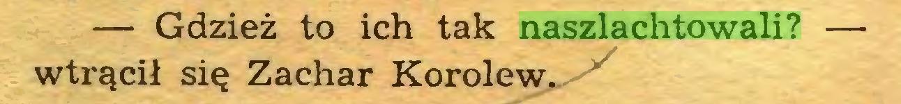 (...) — Gdzież to ich tak naszlachtowali? — wtrącił się Zachar Korolew...